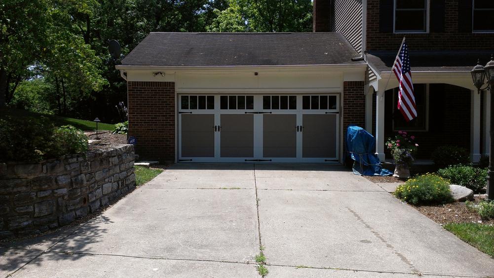 Overlay steel carriage house door in cincinnati pdq for Garage doors cincinnati