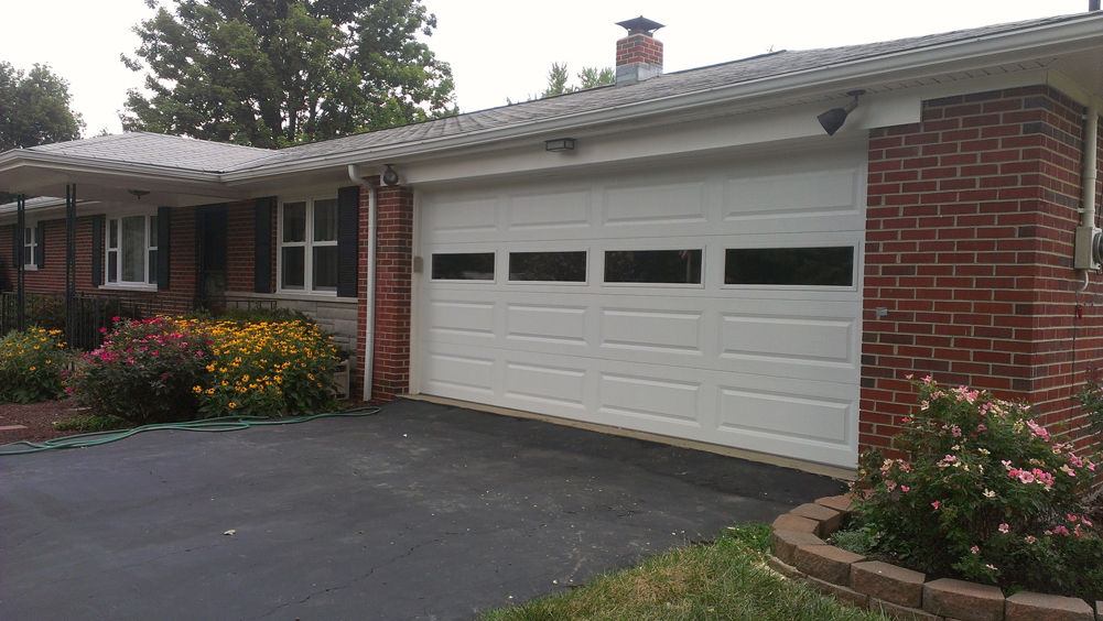 Long Panel Steel Garage Door