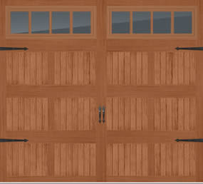 Stamped Steel Short Panel Carriage House Door